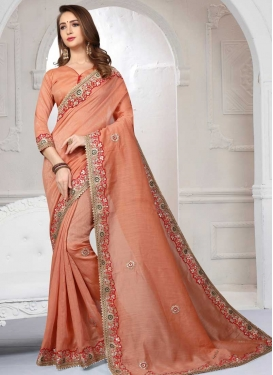 Lace Work Trendy Saree For Festival