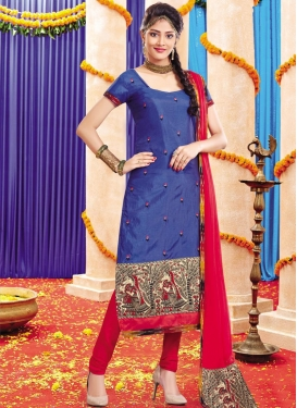 Lace Work  Trendy Straight Salwar Suit