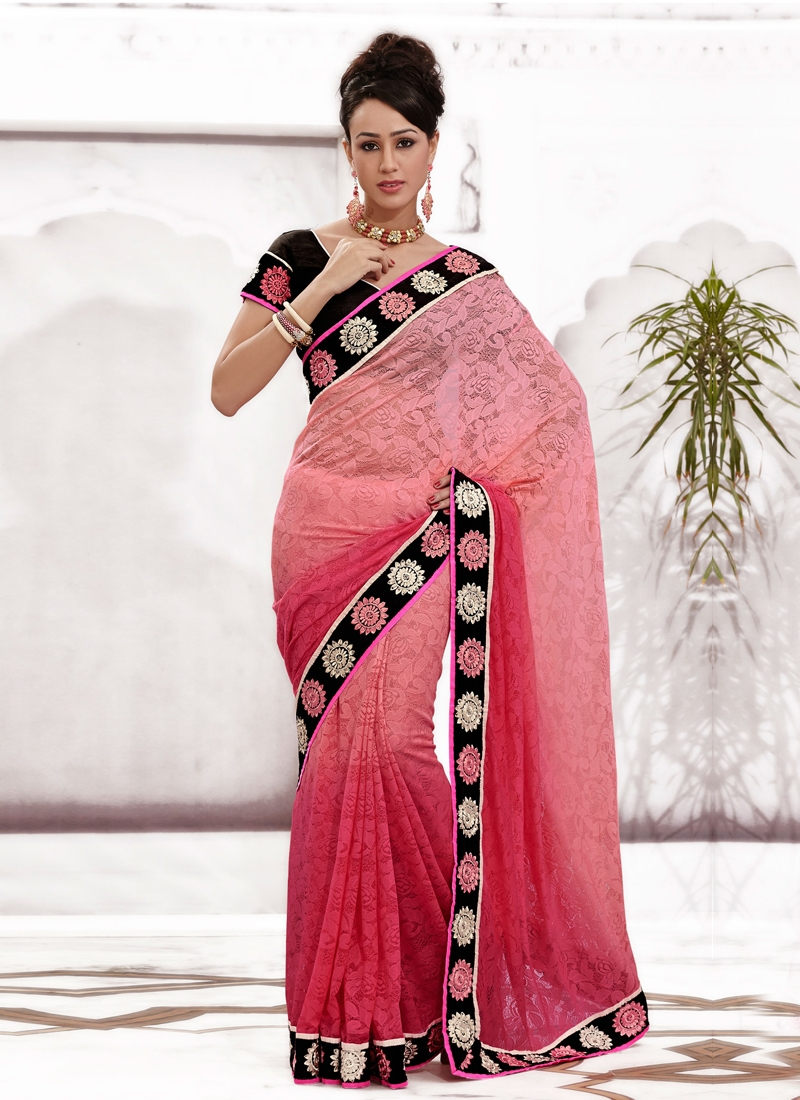Latest Chicken And Stone Work Party Wear Saree