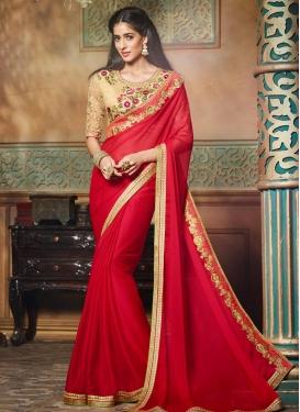 Latest Chiffon Satin Trendy Classic Saree