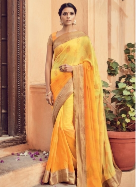 Latest Embroidered Work Contemporary Saree
