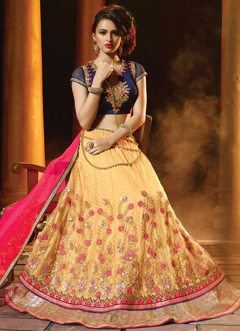 Latest Floral Work Designer Lehenga Choli