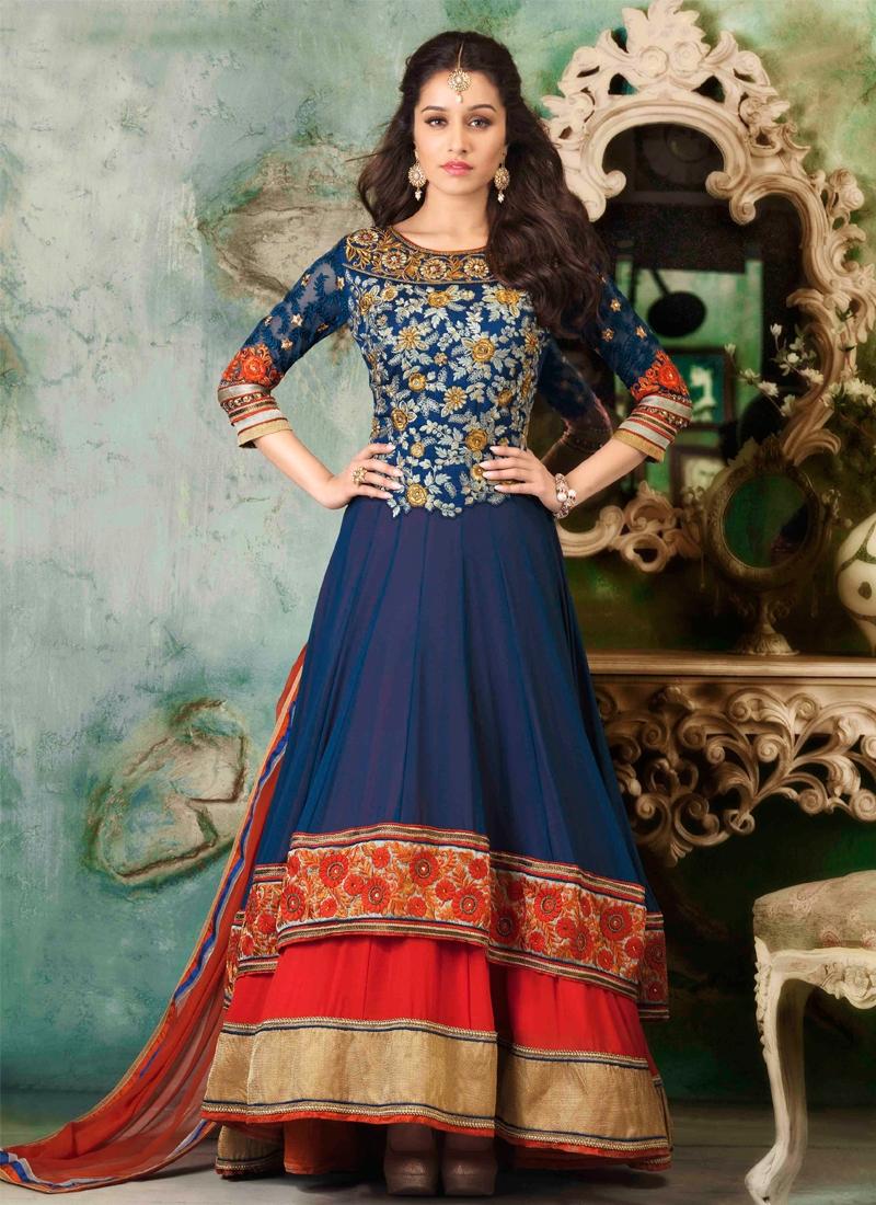 Latest Floral Work Designer Salwar Kameez