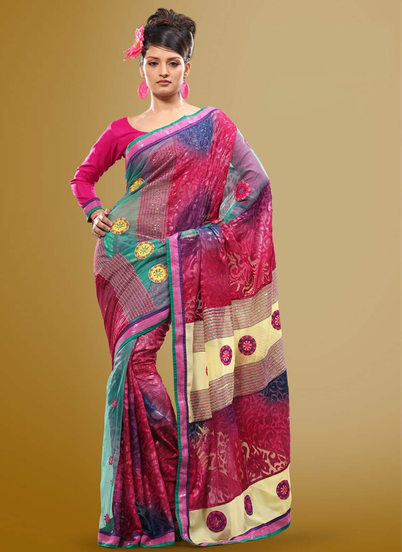 Latest Sequins Enhanced Party Wear Saree