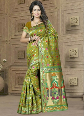 Lavish  Banarasi Silk Trendy Classic Saree For Ceremonial