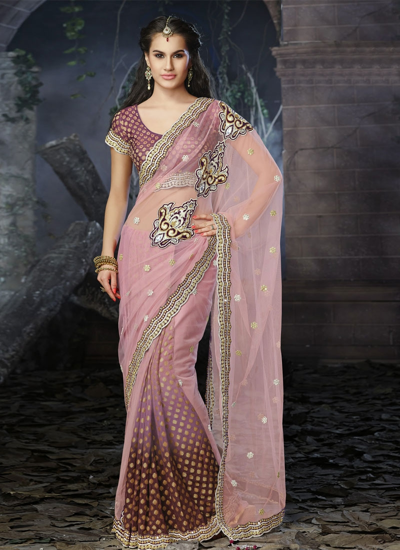 Lavish Booti And Multi Work Designer Wedding Saree