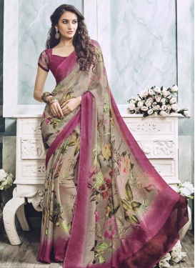 Lavish Faux Georgette Trendy Classic Saree For Ceremonial