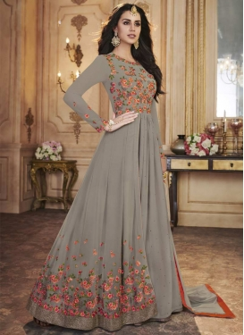 Layered Designer Anarkali Suit For Ceremonial
