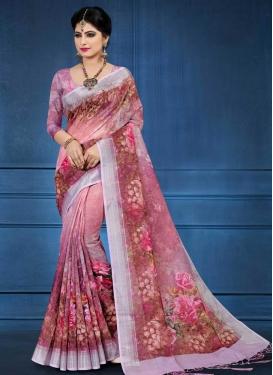 Linen Designer Contemporary Saree For Ceremonial