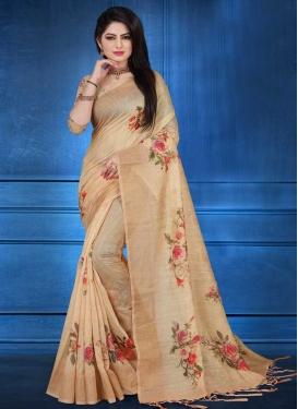 Linen Designer Contemporary Style Saree For Ceremonial
