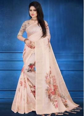 Linen Designer Traditional Saree