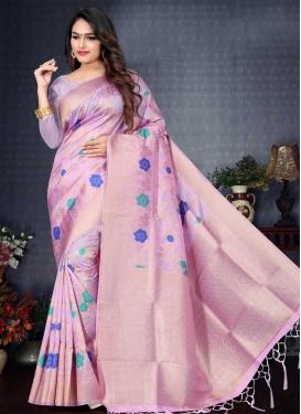 Linen Thread Work Contemporary Saree