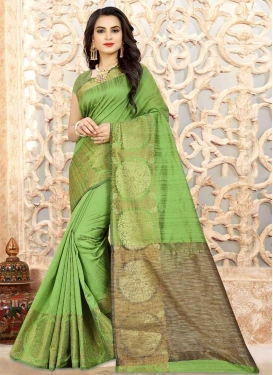 Linen Thread Work Traditional Designer Saree