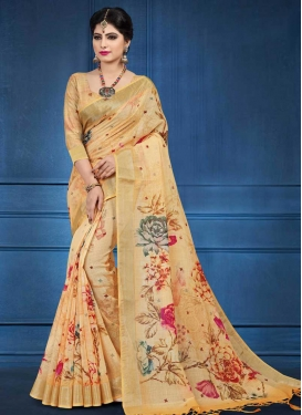 Linen Traditional Saree