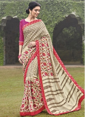 Lively  Art Silk Contemporary Saree For Ceremonial