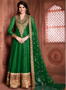 Lively Banglori Silk Booti Work Floor Length Anarkali Suit