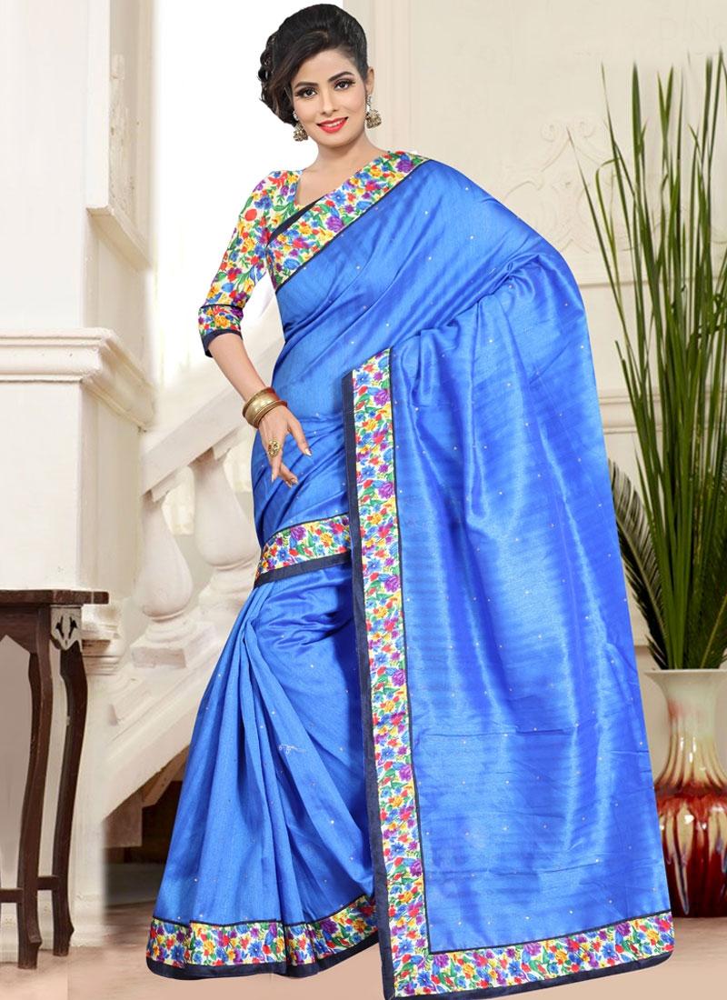 Lively Bhagalpuri Silk Casual Saree