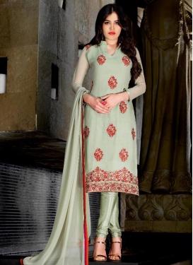 Lively  Booti Work Faux Georgette Trendy Punjabi Churidar Suit