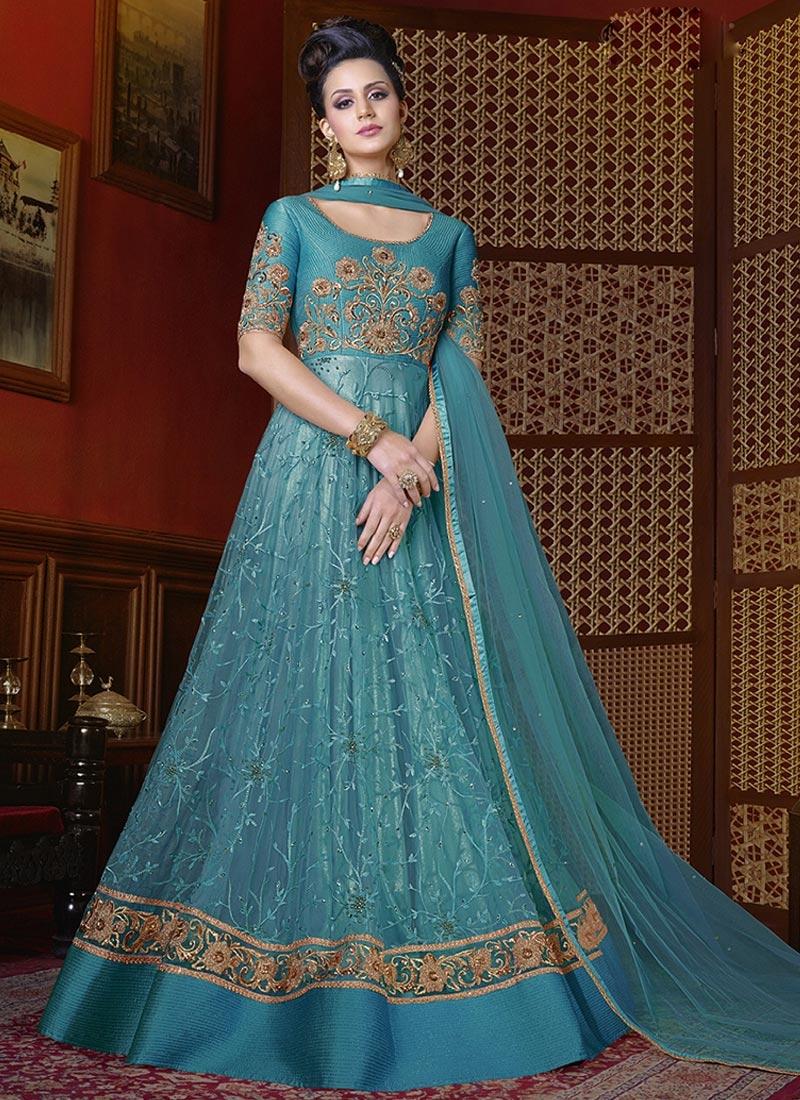 Shop Long Length Anarkali Suit For Party Online