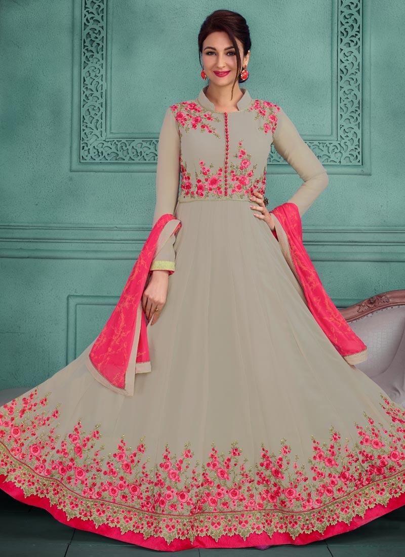 Buy Long Length Designer Anarkali Suit Online In Canada