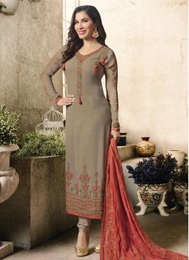 Long Length Pakistani Salwar Suit For Festival