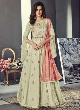 Long Length Trendy Anarkali Suit For Festival