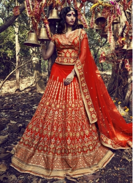 Lordly Embroidered Work  Long Choli Lehenga