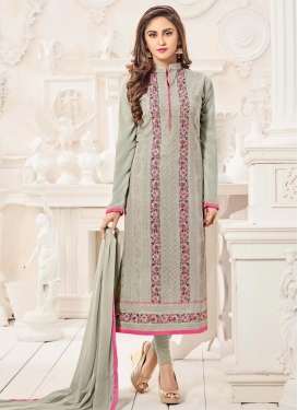 Lordly Krystle Dsouza Embroidered Work Long Length Pakistani Salwar Suit
