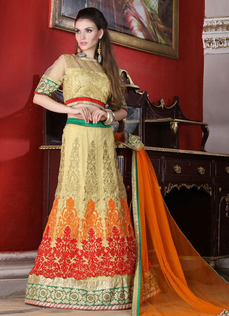 Lordly Stone And Booti Work Wedding Lehenga Choli