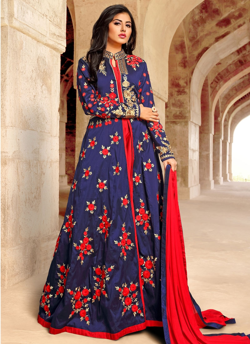 Lovable Floral Work Floor Length Designer Salwar Suit