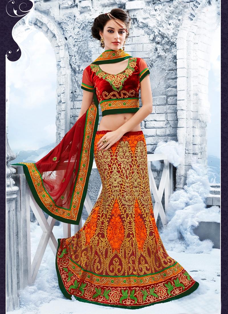Lovable Gold Zardosi Work Bridal Lehenga Choli