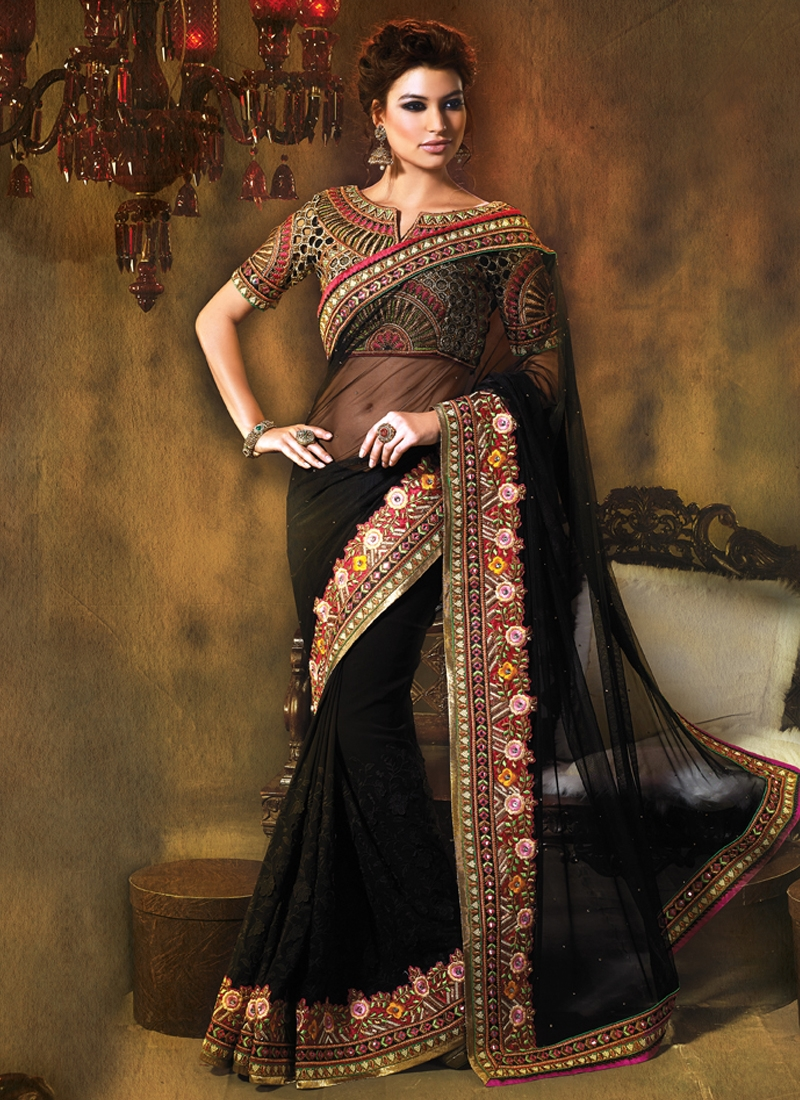 Lovable Net And Georgette Party Wear Saree