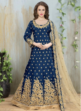 Lovable Silk Floor Length Anarkali Suit For Ceremonial