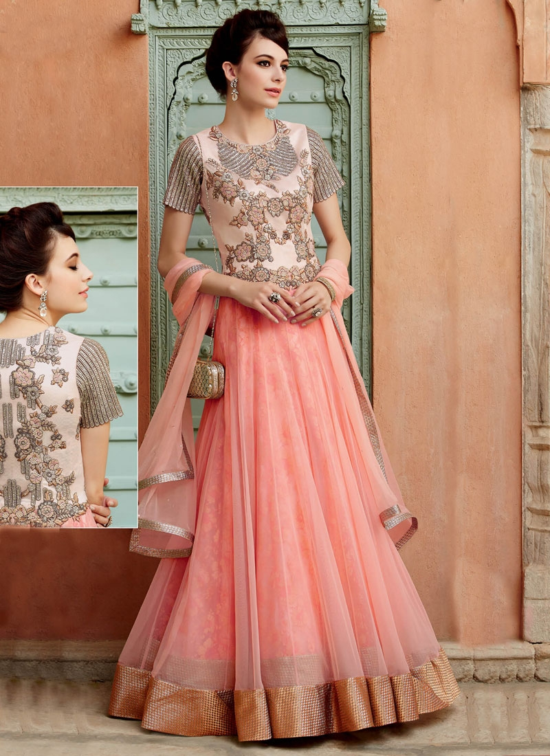 Lovely Beads Work Long Length Designer Salwar Kameez