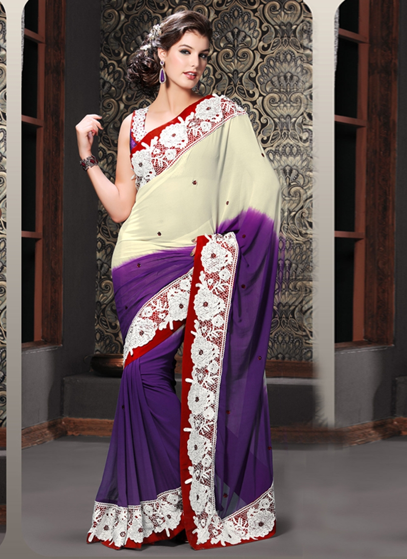 Lovely Georgette Party Wear Saree
