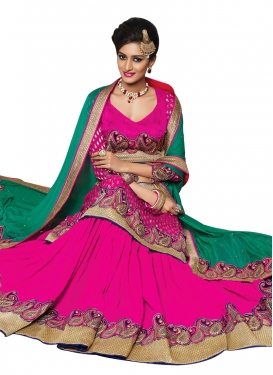 Lovely Patch Border Work Party Wear Lehenga Choli