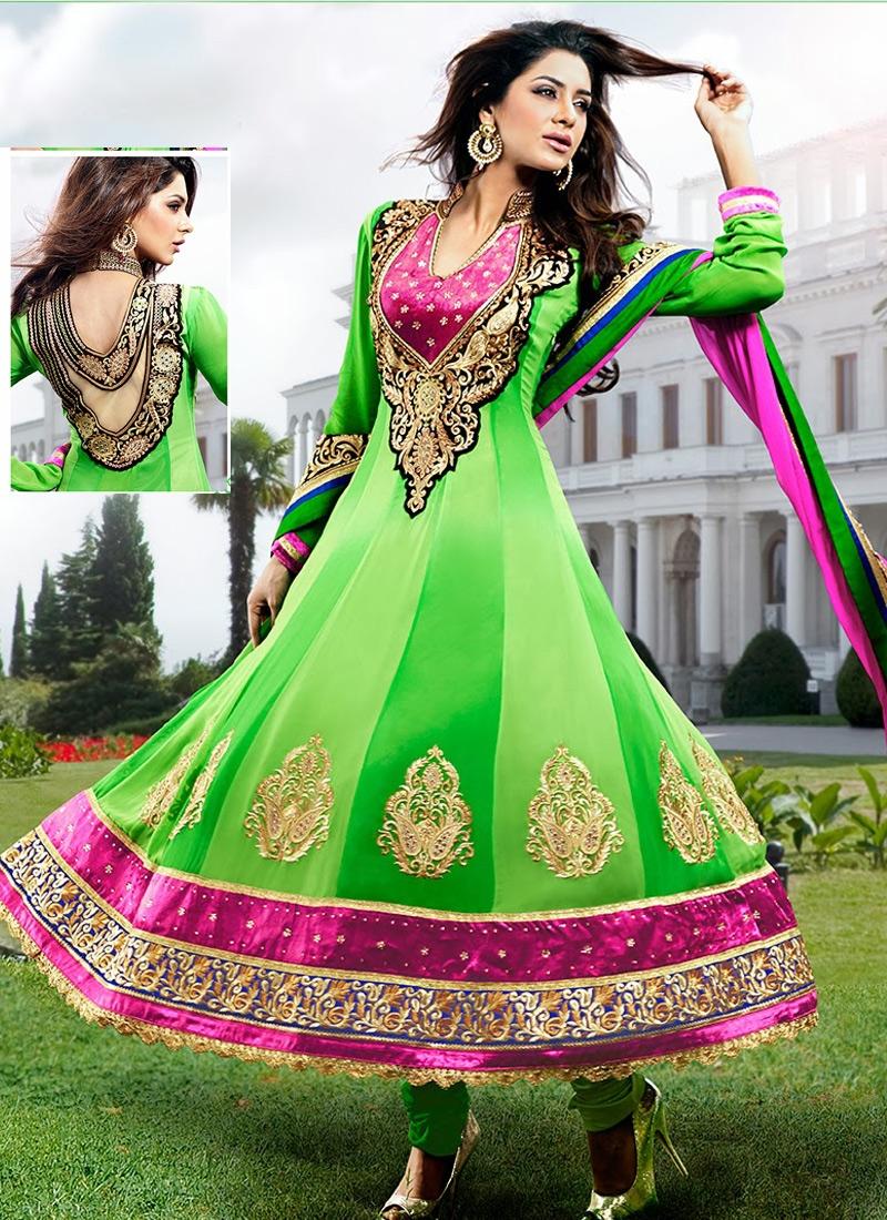Lovely Stone Enhanced Anarkali Suit