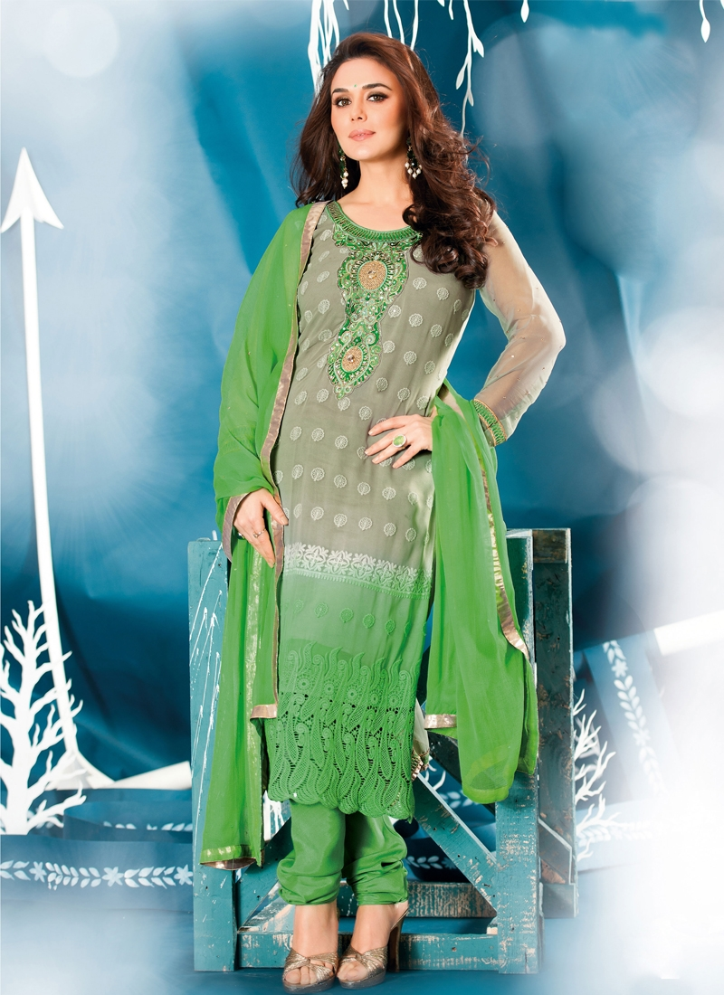 Lurid Resham And Stone Work Party Wear Suit