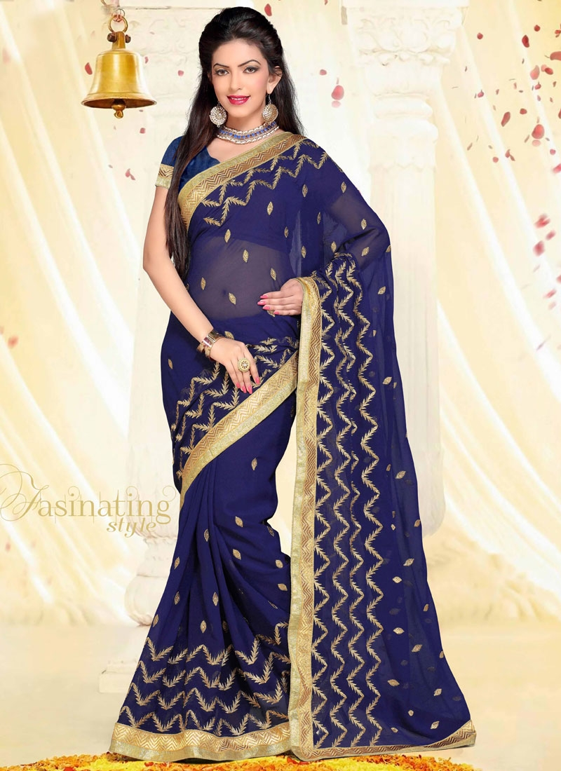 Lurid Resham Work Party Wear Saree