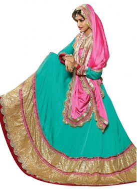 Lurid Sequins Work Party Wear Lehenga Choli