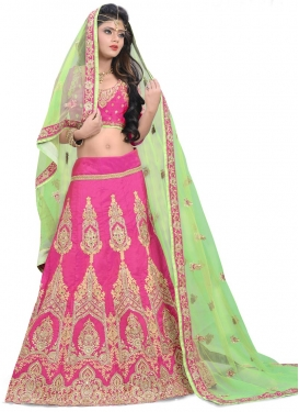 Lurid Silk Designer A Line Lehenga Choli For Bridal