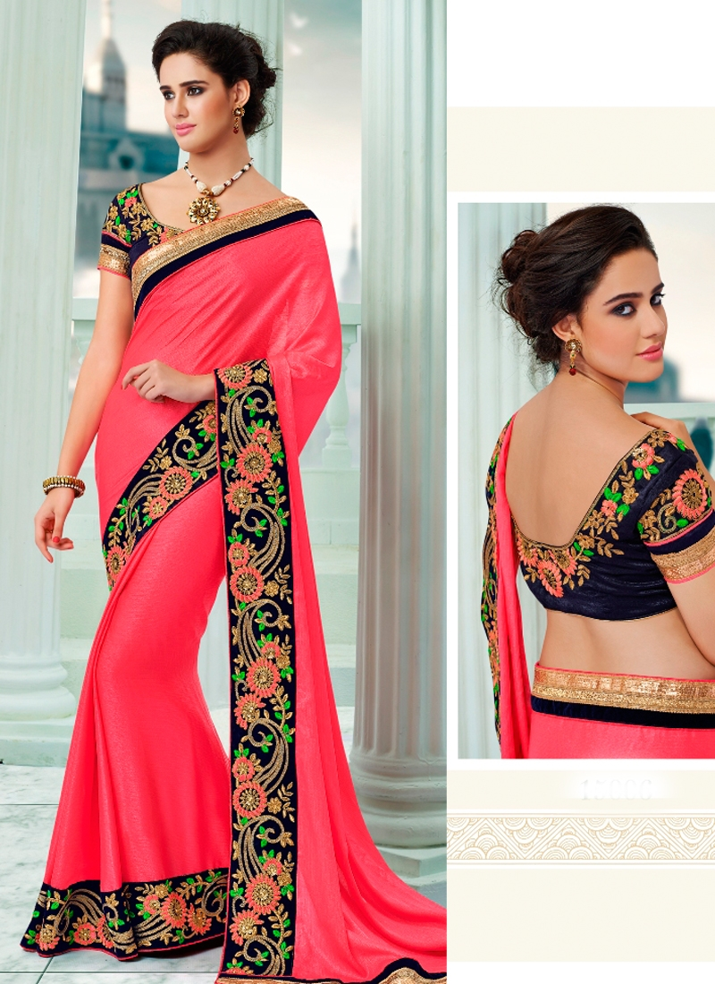 Luscious Art Silk Floral Work Designer Saree