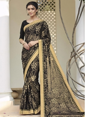 Luscious Brasso Georgette Contemporary Saree