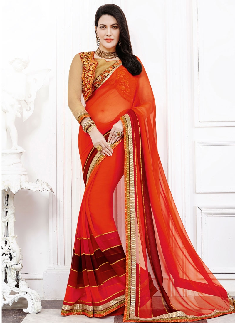 Luscious Faux Georgette Party Wear Saree