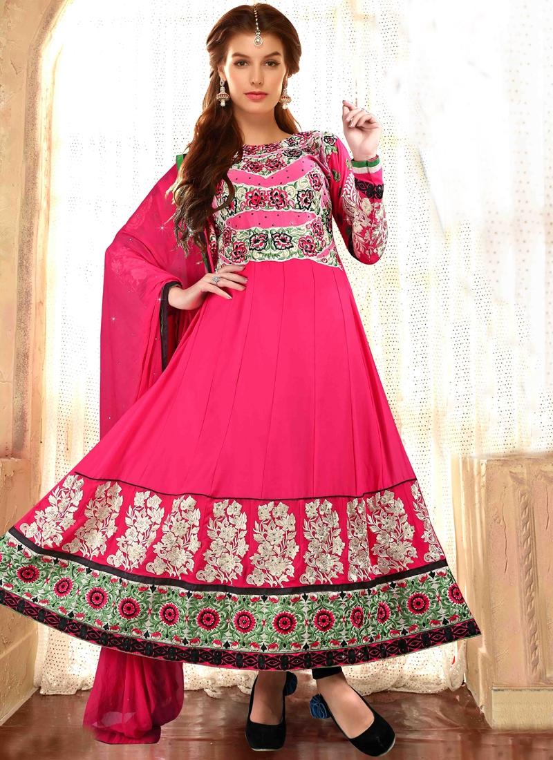 Luscious Floral Work Designer Salwar Suit