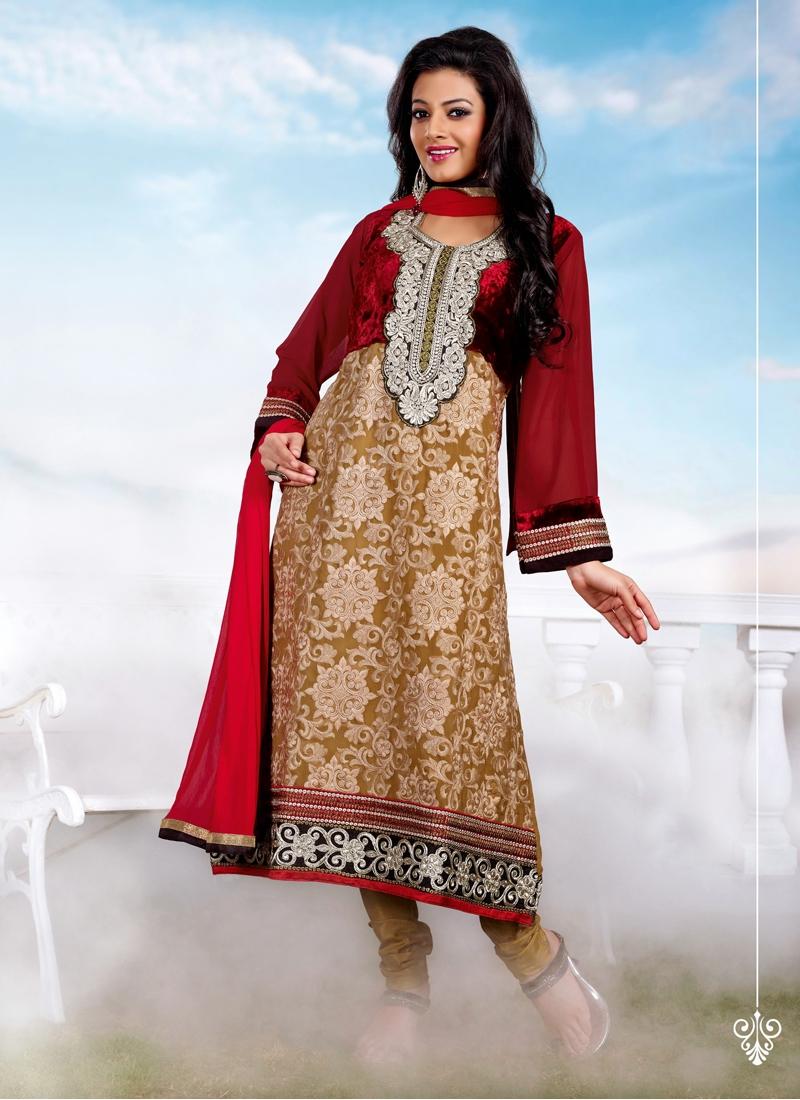 Luscious Velvet Enhanced Churidar Salwar Kameez