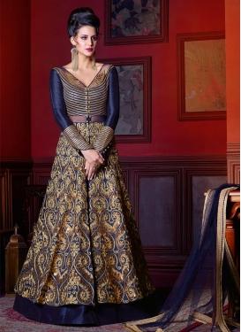 Lustre Banglori Silk Kameez Style Lehenga Choli