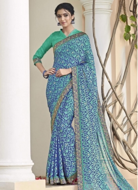 Lustre Brasso Georgette Classic Saree For Ceremonial
