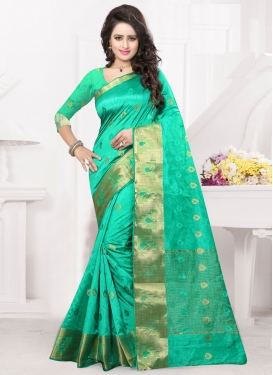 Lustre Resham Work Party Wear Saree