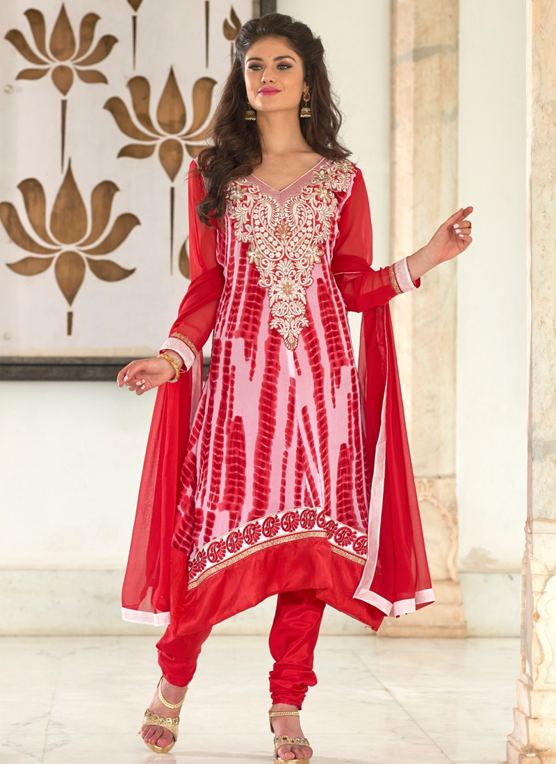 Lustrous Karachi And Resham Work Party Wear Suit